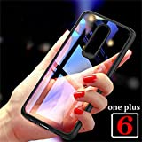 mobistyle Autofocus Series Full Protective TPU & Acrylic Transparent Back Case Cover for Oneplus 6 (Black)