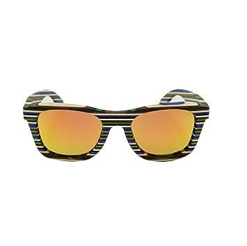 HAOYUXIANG Outdoor-Mode Fahren Angeln Straße Schießen Farbe Hölzerne Sonnenbrille,Gray