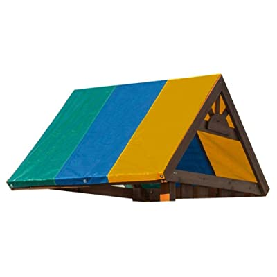 Swing Set Replacement Tarp Swingset Shade Canopy Cover Collapsible Colorful Waterproof Gardening Sunshade Awning Swing Tarpaulin Roof Cover 132X228CM : Garden & Outdoor