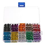 QOJA 100pcs assorted standard blade fuse kit 2a 3a 5a 7.5a 10a