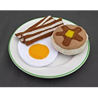 Felt Food Breakfast set with Bacon, Eggs and Pancake