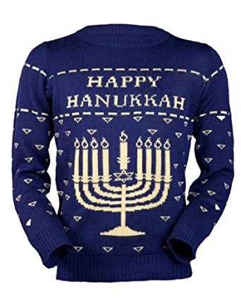 Amazon.com: Ugly Christmas Sweater- Happy Hanukkah Sweater by ...