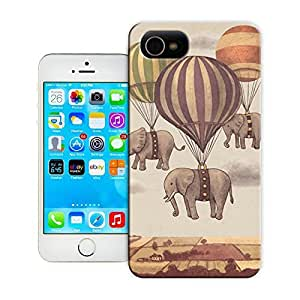 Unique Phone Case Flight of the Elephants Hard Cover for iPhone 4/4s cases-buythecase