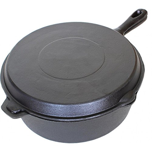 Cajun Cookware 6-quart Seasoned Cast Iron Combo Cooker - Gl10495ds (Cooker Iron Cast Combo Seasoned)