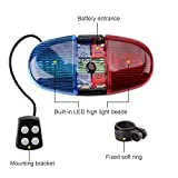 Oumers Bicycle Police Sound Light, Bike LED Light