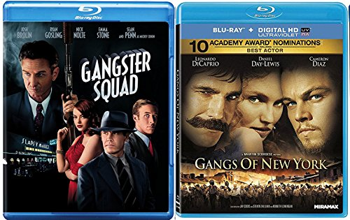 Gangs of New York & Gangster Squad [Blu-ray] 2 Pack Mob Crime Movie Set