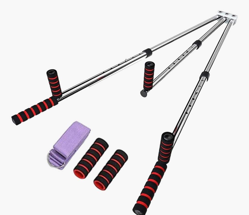 Pro-Gymnastics Gymnastics Mat 2 Thick Tri-Fold Folding Exercise Tumble Mat with 3 Bar Leg Stretcher Flexibility Stretching Machine for Gymnastics Home Gym Exercise Workout Mat Yoga Aerobics MMA
