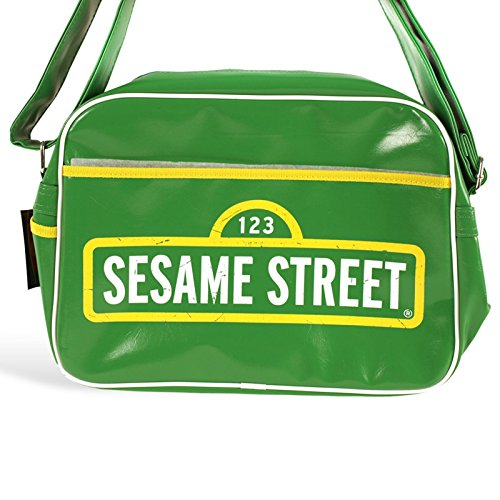 Sesamstraße - Logo Umhängetasche Kult Sesame Street Messenger Bag, Tasche grün