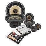 Precision Power 6.5-Inch 3-Way Power Class Series Componente Car Audio Speaker System-Set of 2, Black & Copper