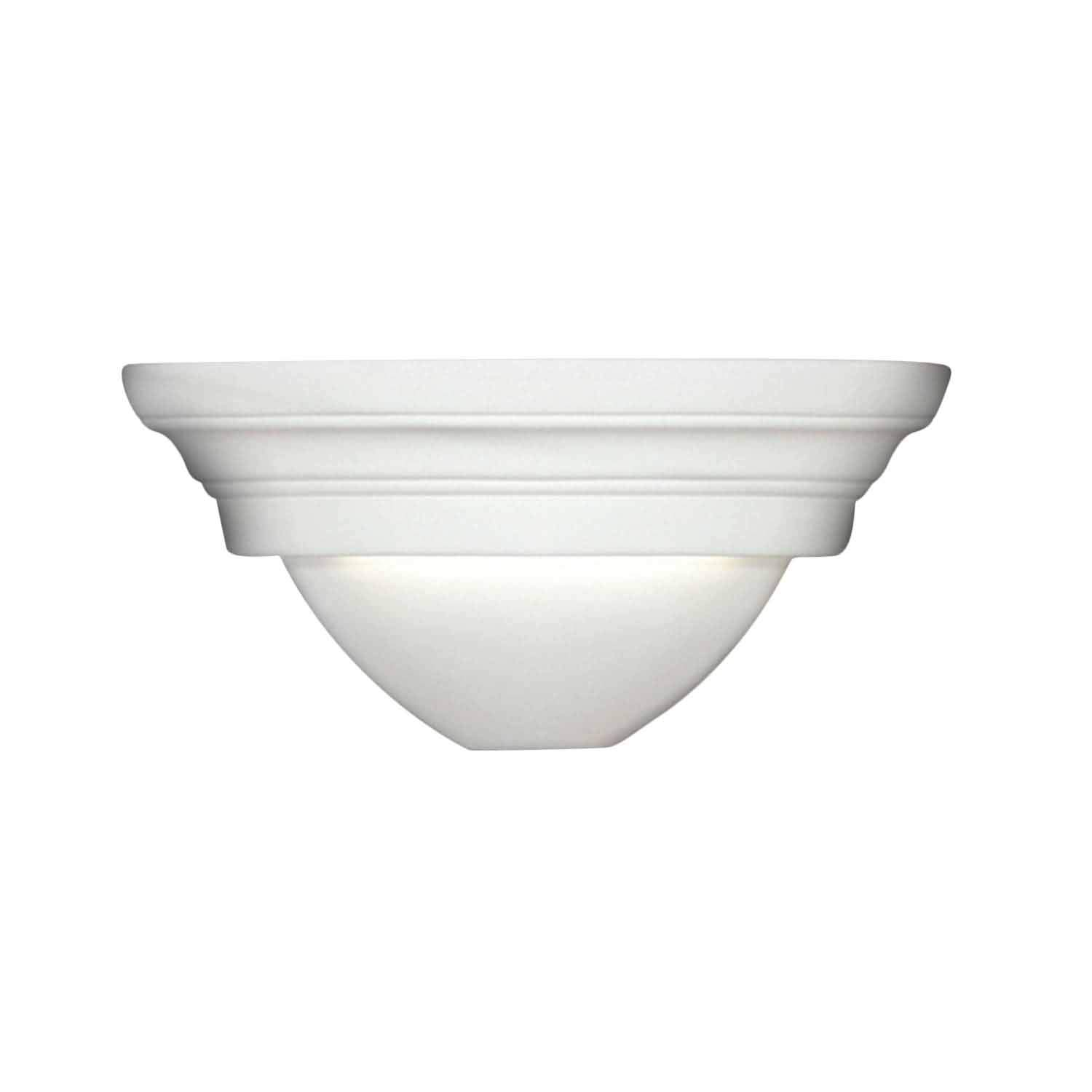A19 Ibiza Corner Sconce, 8 by 11.5 by 5.5'', Bisque