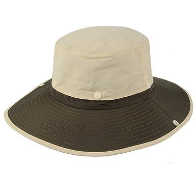 3af20135 2 in 1 UPF 50+ Waterproof Sun Hat Long Wide Brim Bucket Bonnie Hat Men