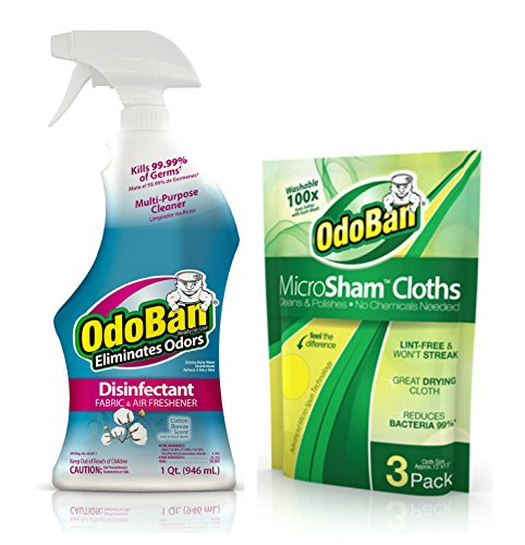 OdoBan Disinfectant Fabric & Air Freshener, Spray Bottle and