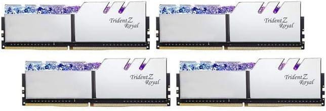G.SKILL 32GB (4 x 8GB) Trident Z Royal Series DDR4 PC4-32000 4000 MHz 288-Pin Desktop Memory Model F4-4000C18Q-32GTRS