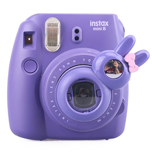 [Fujifilm Instax Mini 7s Mini 8 Selfie Lens] -- CAIUL Rabbit Style Instax Close Up Lens (Polaroid Instax 8 Purple)