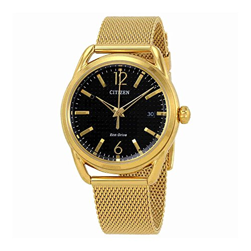 - Ladies' Drive from Citizen Eco-Drive LTR Black Dial and Gold-Tone Stainless Steel Watch FE6082-59E