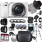 Sony Alpha a6000 (White) E-Mount Mirrorless Camera with Sony E...