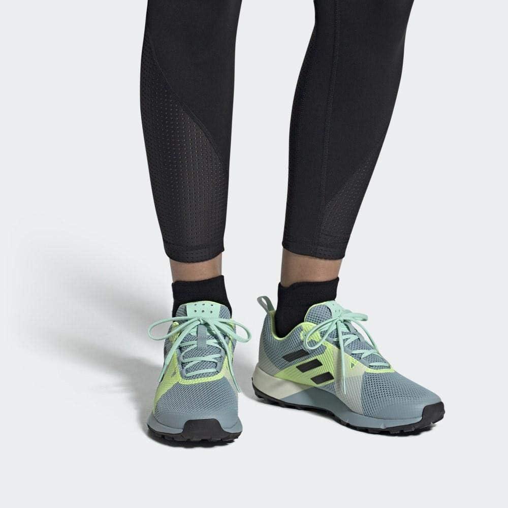adidas Damen Terrex Two W Fitnessschuhe, blau, 43.3 EU Mehrfarbig (Gricen/Negbás/Amalre 000)