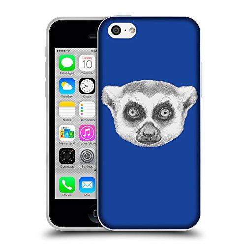 GoGoMobile Coque de Protection TPU Silicone Case pour // Q05390613 Portrait lémurien Bleu // Apple iPhone 5C