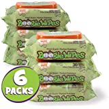 Boogie Wipes, Wet Saline Nose Wipes for Kids and Baby, Soft Natural Hand and Face Tissue with Aloe, Chamomile and Vitamin E, Fresh Scent, 30 Count, (Pack of 6)