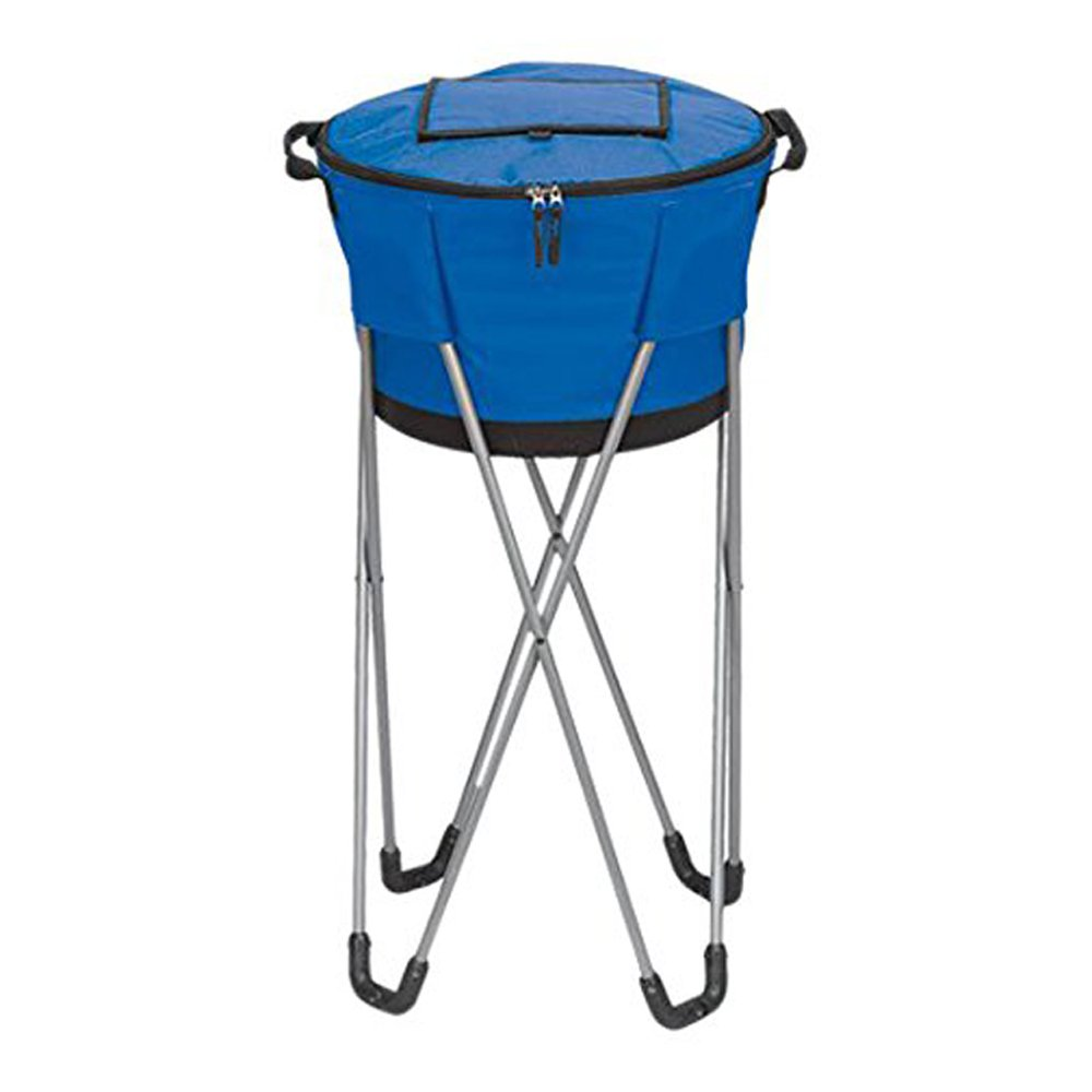 Bellino Collapsible Barrel Cooler with Stand, Blue
