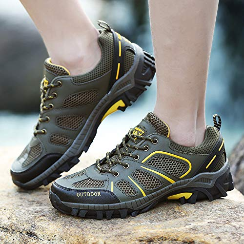 Army Up Comfortable shoes Outdoor Lovers Mesh Farjing Running Women Mountaineering Lace Casual Shoes Men Green gFzwqO