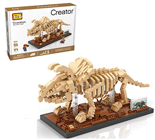 LOZ InFUNity Diamond Blocks Triceratops Dinosaur Skeleton Model (660 PCS) Jurassic World Dinosaur
