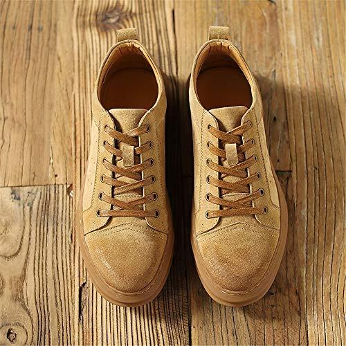Fuxitoggo uomo traspiranti Colore 44 sportive Scarpe classiche da da Giallo stringate ginnastica Scarpe Giallo EU rotonde Dimensione Scarpe pRrpxC