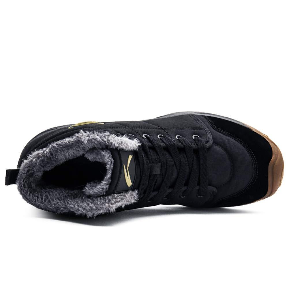 AZOOKEN Hombre Mujer Botas de Invierno Zapatillas Trekking Senderismo Impermeables Nieve Antideslizante Calientes Botines (6118-Black39)