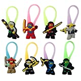 Lego Movie Luminescent Colorful Silicone Snap Lock Zipper Pulls 8 Pcs Set #3