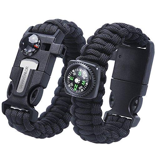 Sahara Sailor 2 Pack Paracord Bracelet Multifunctional Survival