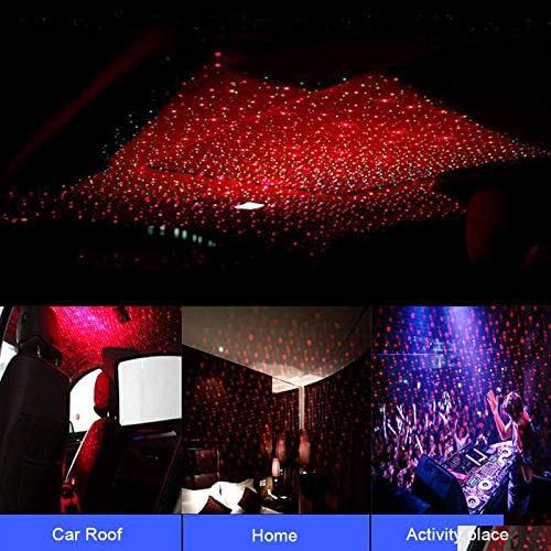 DirkFigge Car USB Projector Light Star Ceiling Light Roof Lights Romantic Night Light Atmospheres Decoration Universal Mini Car Ceiling Starlight Projection LED Light