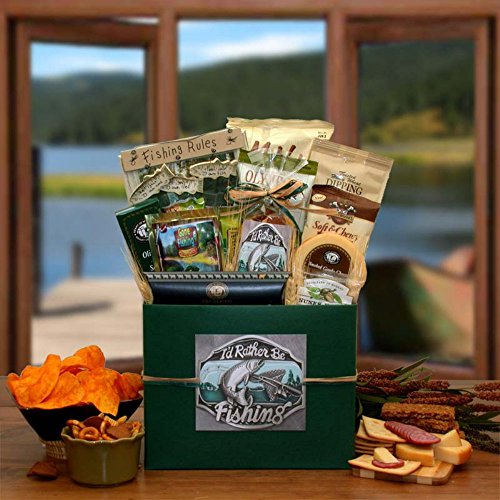 I'd Rather Be Fishing Gift Basket Box