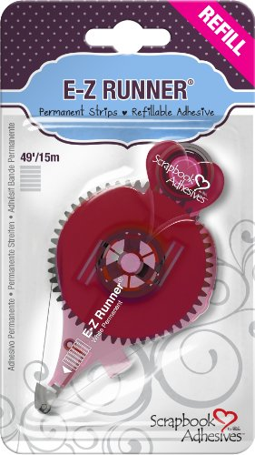 Scrapbook Embellishments Free - 3L Scrapbook Adhesives E-Z Runner Permanent Refillable Refill Catridge, 49 Feet