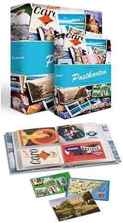Álbum para tarjetas postales incl. 50 fundas para 4 tarjetas por ...