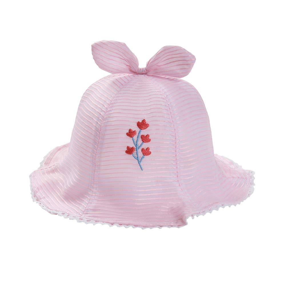 IMLECK Baby Boys Girls Thin Mesh Flower Embroidery Sun Protection Hat