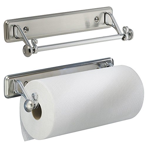 Wall Towel Holder New York Series Kitchen Wall-Mount Paper Towel Holder, Stainless Steel Finish (Kopf Metall)