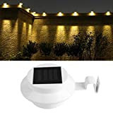 SCASTOE Solar Power Outdoor Garden Yard Wall Waterproof LED Light Gutter Fence Wall Lamp with Bracket Review