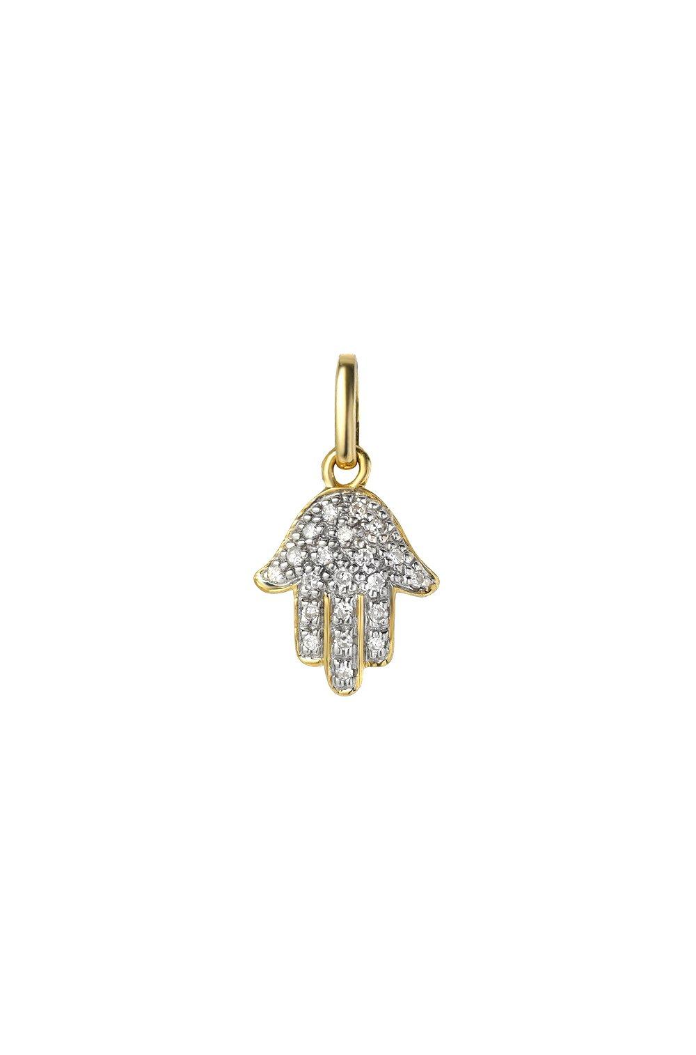 diamond hamsa charm, Zoe Lev Jewelry