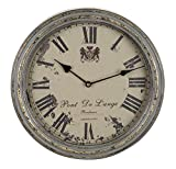 Benzara Metal Wall Clock, A Vintage Metallic Clock