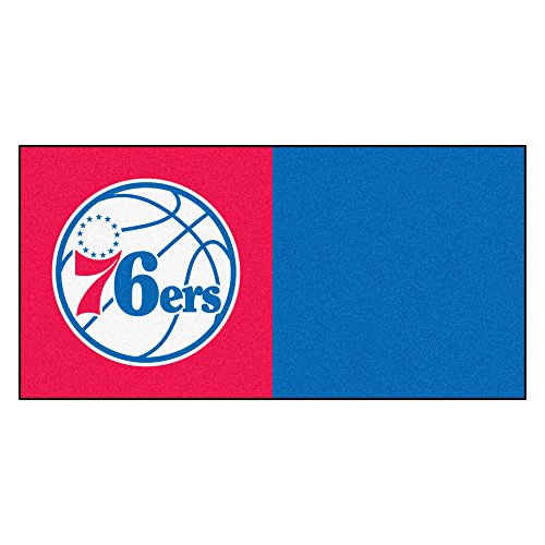 FANMATS NBA Philadelphia 76ers Nylon Face Team Carpet Tiles by Fanmats