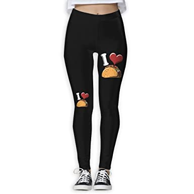Amazon.com: Hant I Love Tacos de la mujer Activewear high ...