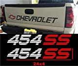 454ss silverado - CHEVROLET BED DECALS STICKERS PACKAGE CHEVY 454SS GRAPHICS