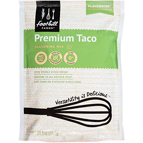 Foothill Farms Select Premium Taco Seasoning Mix, 9 Ounce - 6 per case. ()