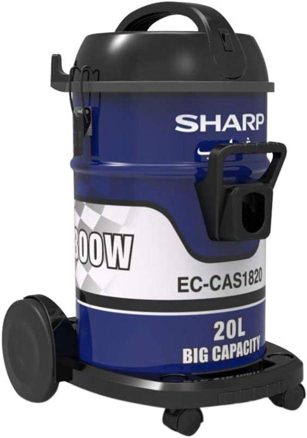 شارب مكنسة كهربائية إسطوانية بسعة 20 لتر 1800 واط، ازرق - EC-CAS1820-Z