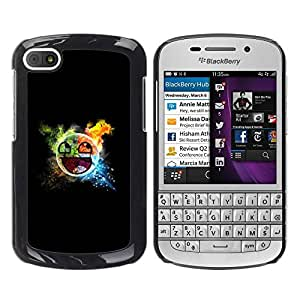 Paccase / SLIM PC / Aliminium Casa Carcasa Funda Case Cover para - Awesome Smiley Blast - BlackBerry Q10