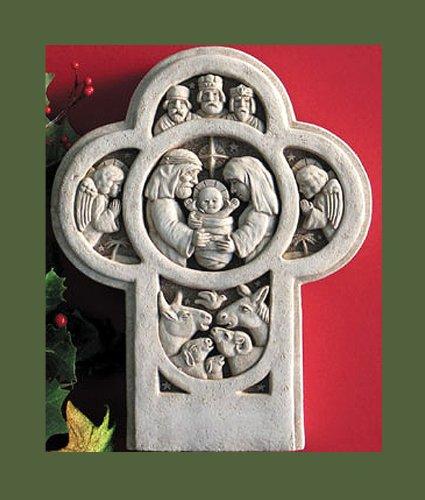 Nativity Statue Concrete (Nativity Cross Plaque)