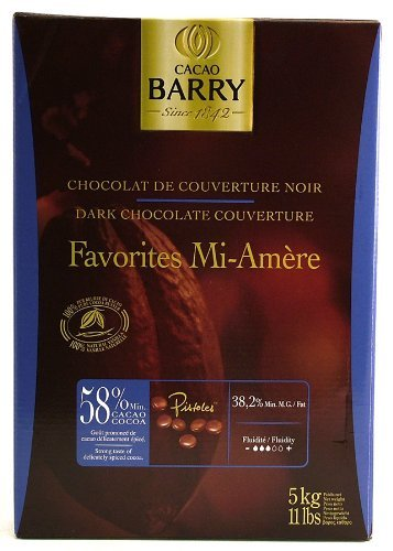 Mi Amere Dark Pistoles 58 % (11 lb) by Cacao Barry (Image #1)