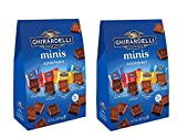 Ghirardelli Assorted Mini Squares Pouch, 12.2 Ounce, X-Large 2 PACK