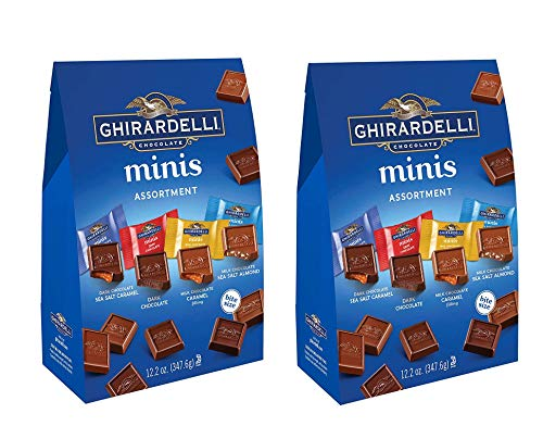 (Ghirardelli Assorted Mini Squares Pouch, 12.2 Ounce, X-Large 2 PACK)