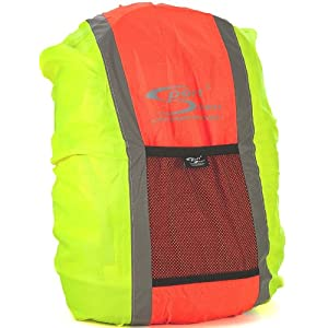 51U6ZDnG5HL. SS300  - Sport Direct High Visibility Reflective Waterproof Backpack Cover Orange/Yellow